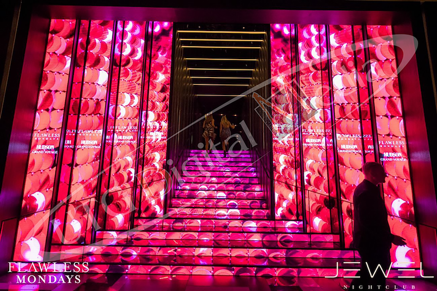 UTG DIGITAL MEDIA LAUNCHES INAUGURAL LED STAIRCASE IN VEGAS