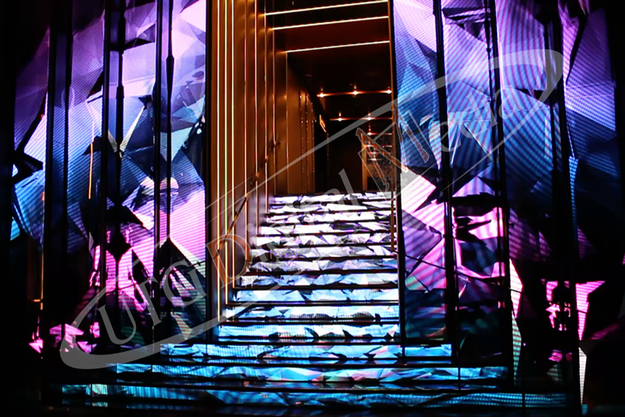 Digital signage provider installs LED staircase in Las Vegas
