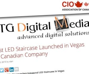 First LED Staircase Launched in Vegas by Canadian Company