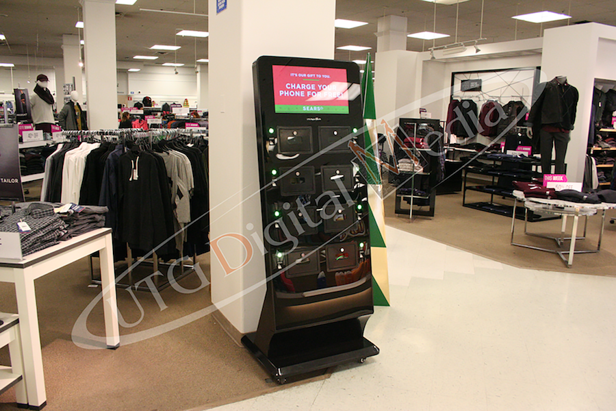 RETAIL PHONE CHARGING STATION USES FINGERPRINT SCAN FOR SECURITY