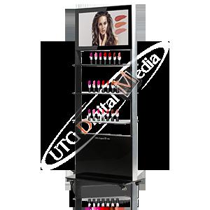 UTG Digital Media Digital Kiosk with Shelves
