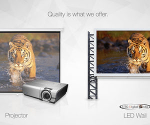 A projector or an LED wall at your next event?
