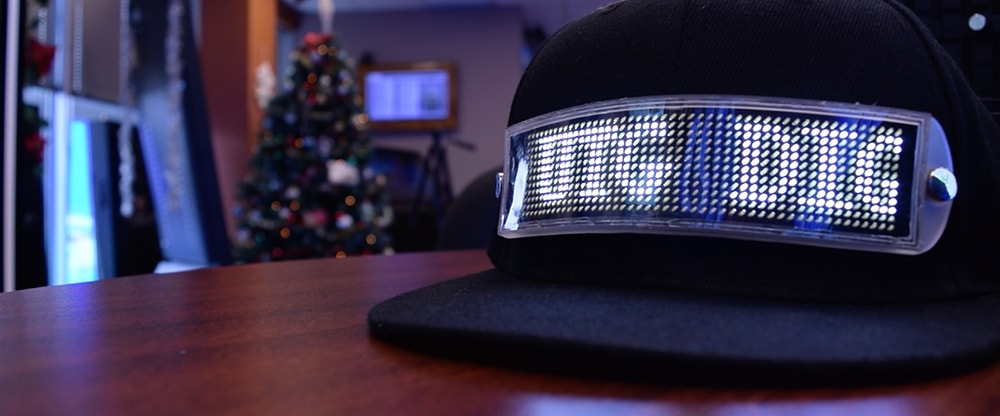 LED hat in the office