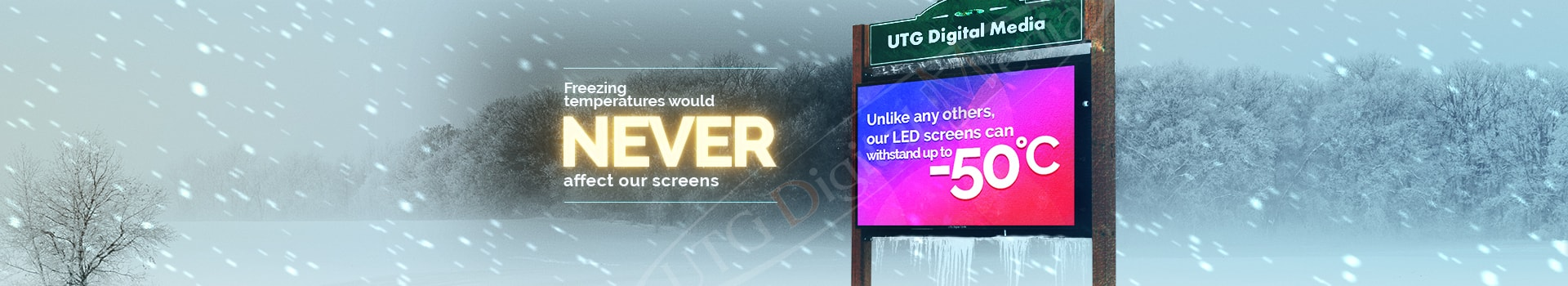 Outdoor LED Pylon from UTG Digital Media