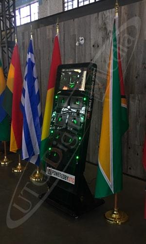 UTG's mobile charging station kiosk at the horticultural building in Ottawa