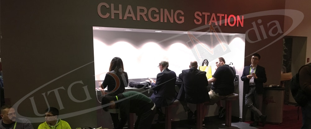 People waiting for the phones to charge
