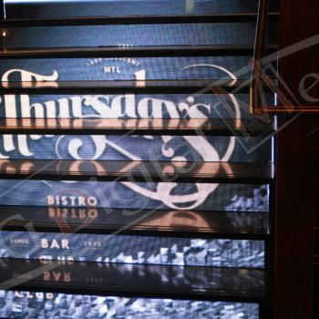 Thursday's Montreal  – LED Stairs