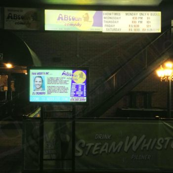 Absolute Comedy – Outdoor LCD Box