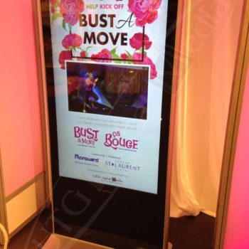 Bust a Move – LCD Stand Up Display