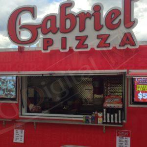 Gabriel's Pizza – 43″ Menu Displays for a Food Truck