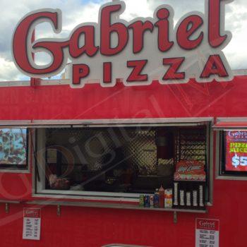 Gabriel's Pizza – Mobile Menu Displays