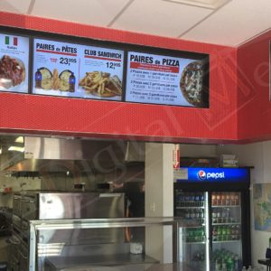 Gabriel's Pizza – 32″ Digital Menus