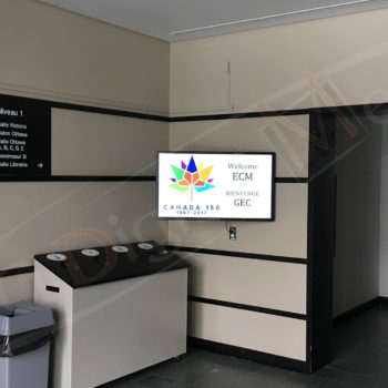 Government of Canada (PWGSC) – Wall Mounted