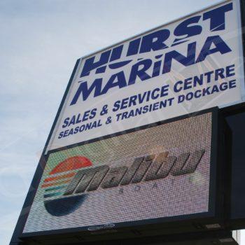 Hurst Marina – LED Pylon