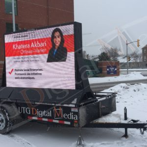 Khatera Akbari, Elections – 6′ x 8′ DS P10mm LED Trailer