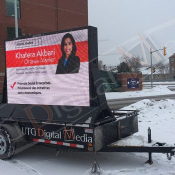 Khatera Akbari, Elections – LED Trailer