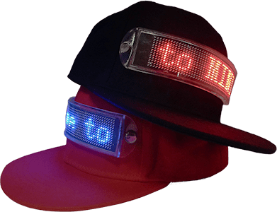 LED Message Hat