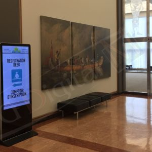 Library and Acrhives, Ottawa – 55″ Waiting Room Signage