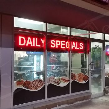 Milanos Pizza – LED Window Screen