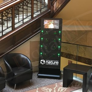 Museum of Nature – Mobile Charging Station with a 22″ screen