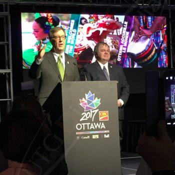 Ottawa 2017 Thank You Ceremony – LED Screen