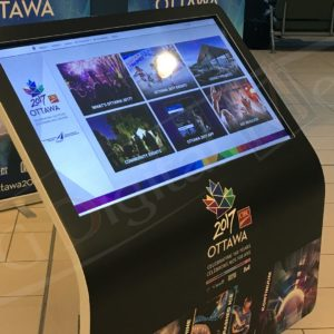 Ottawa Airport – 43″ Angled Touch Screen