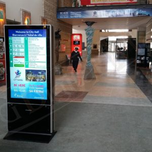 Ottawa City Hall – Stand Up Display, 55″ DS