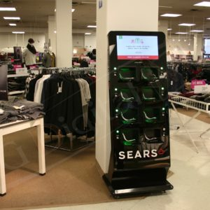 Sears – St. Laurent Charging Station with a 22″ screen