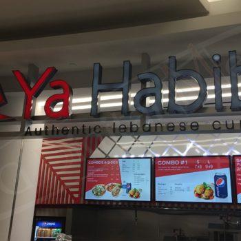 Ya Habibi – Digital Menu Boards and Logo Design