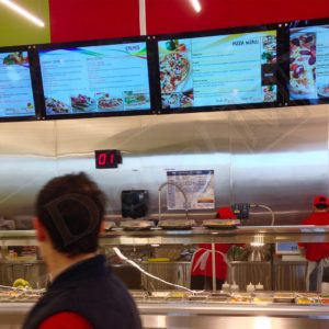 Adonis, Mississauga – 43″ Digital Menu Board