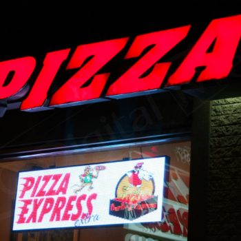 Pizza Express – LED Window Sign