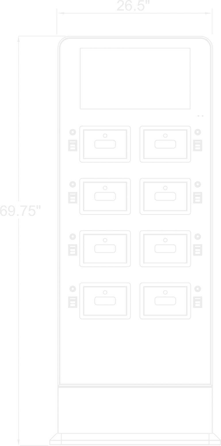 8-bay charging station by utg digital media