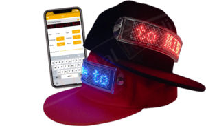 LED Hat with iPhone