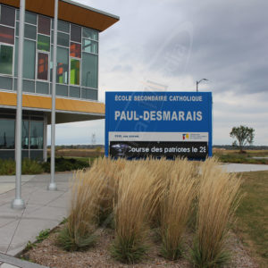 École Paul Desmarais – Outdoor LED Pylon