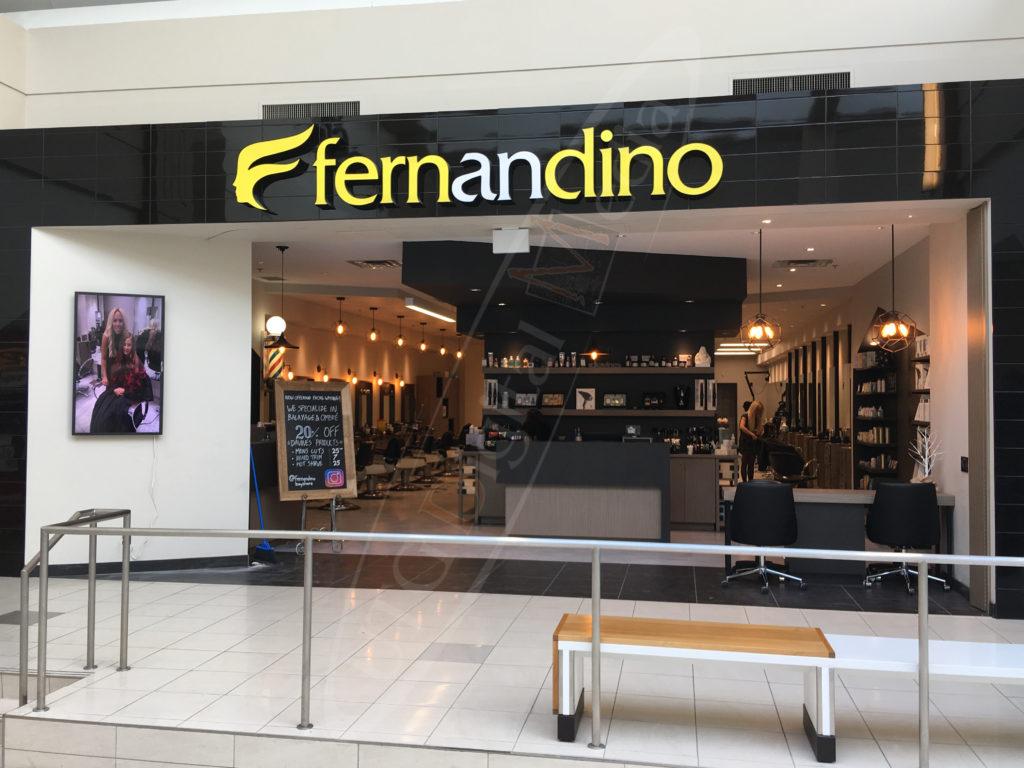 Fernandino Hair Salon – Wall Mounted LCD Screen
