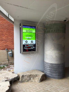 A UTG Outdoor Menu Box at Glebe Parking Garage