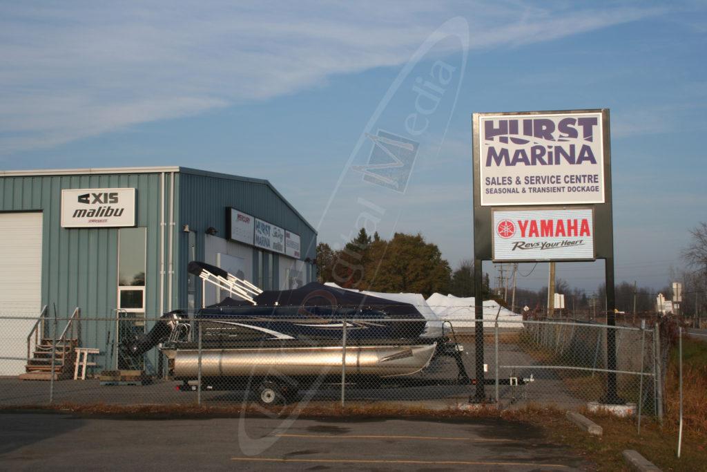 Hurst Marina – Outdoor LED Pylon