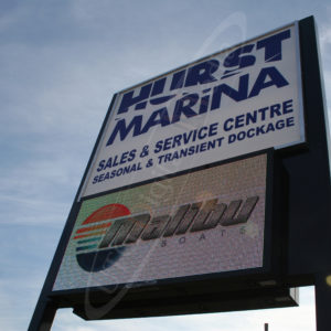 Hurst Marina – Outdoor LED Pylon