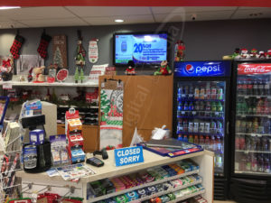 A UTG Wall Mounted LCD Screen at IDA's Pharmacy