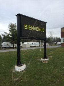 A UTG Outdoor LED Pylon sign at Limoges