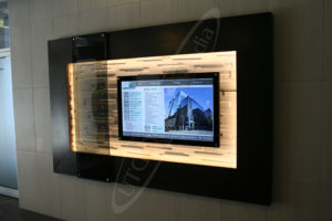 A UTG Wall Mounted LCD Screen at 251 Laurier Street
