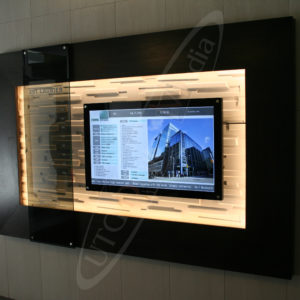 Lobby Display KRP Properties – Wall Mounted LCD Screen