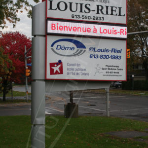 Louis Riel – Outdoor LED Pylon