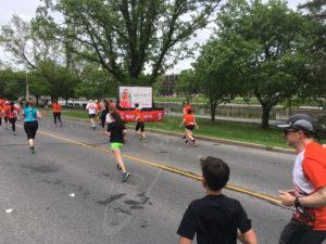 A UTG Mobile LED Trailer at a Marathon