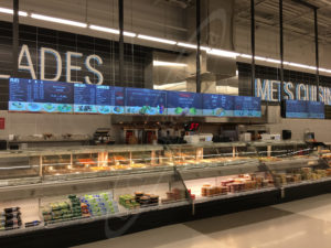 A UTG Wall Mounted LCD Screen at Marche Adonis
