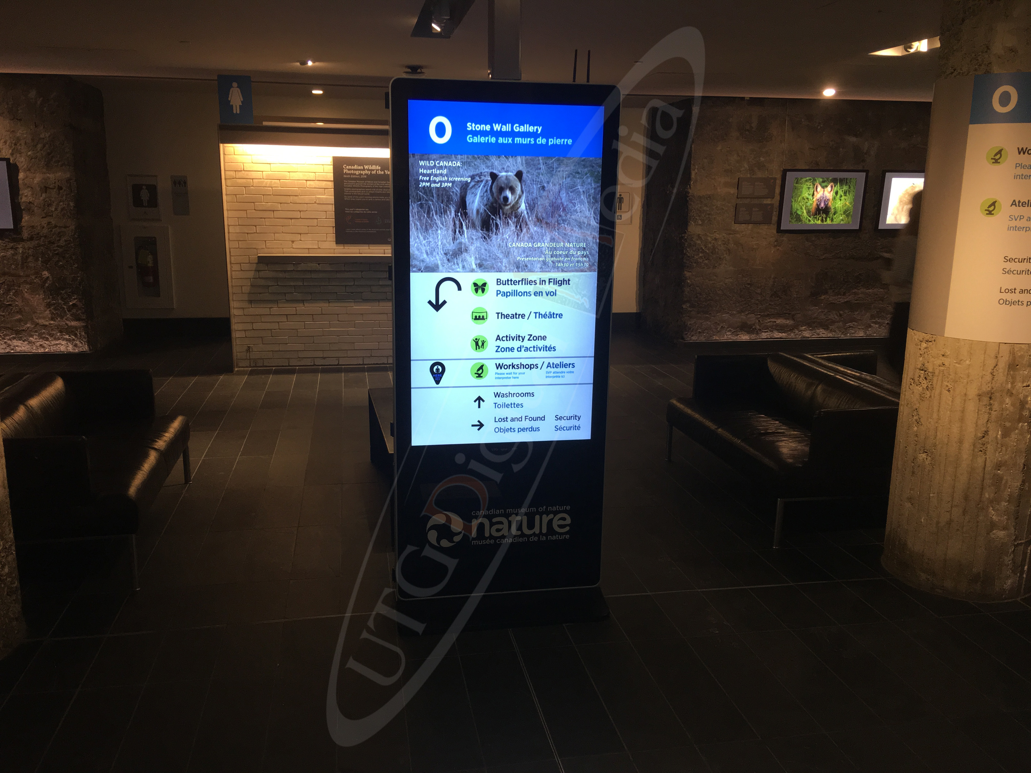 Museum of Nature – LCD Standup Screen