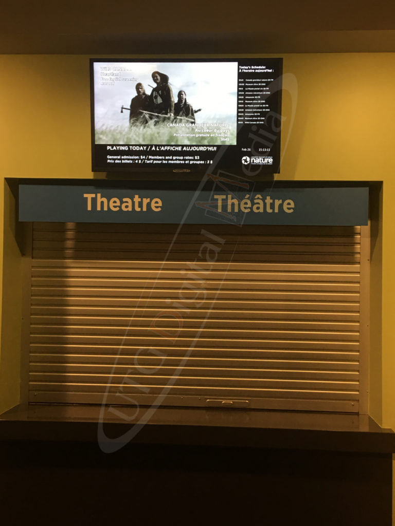 Museum of Nature – Wall Mounted LCD Screen
