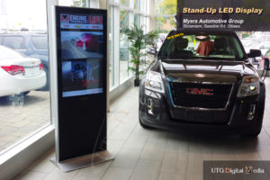 A high quality LCD Standup Screen in Myers Automotive Group, Ottawa, Ontario