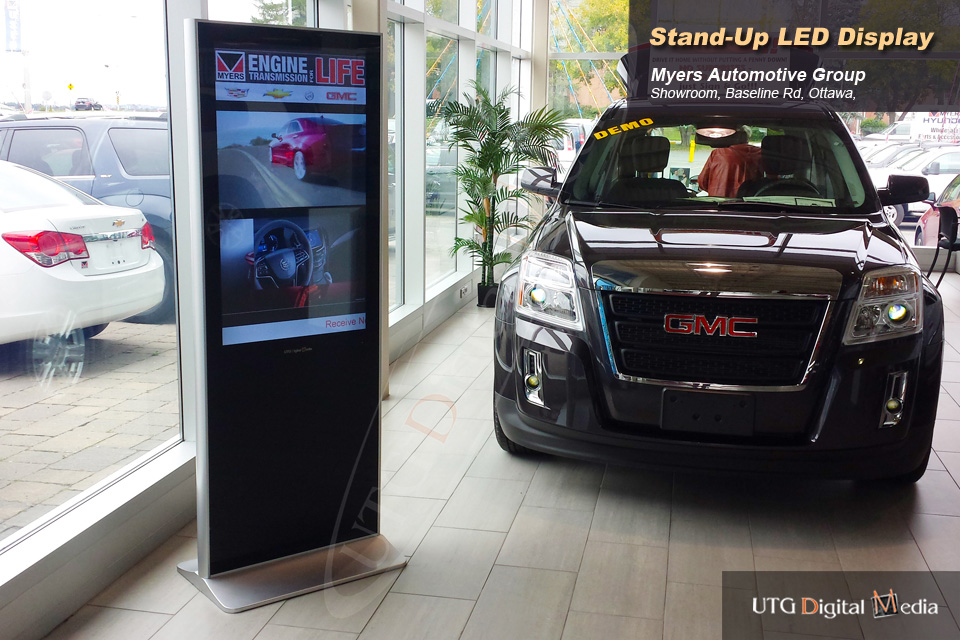 Myers GMC Dealership – LCD Standup Screen