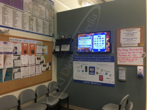 A UTG Wall Mounted LCD Screen at the Orleans Cumberland Community Association